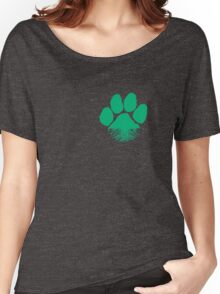 Fauna & Flora -  Earth Lover Green Paw Women's Relaxed Fit T-Shirt