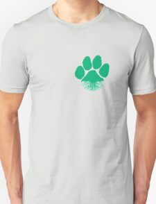 Fauna & Flora -  Earth Lover Green Paw Unisex T-Shirt