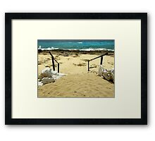 Unspoiled Beach ~ Part Three Framed Print
