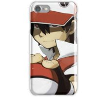 Pokemon - Trainer red iPhone Case/Skin