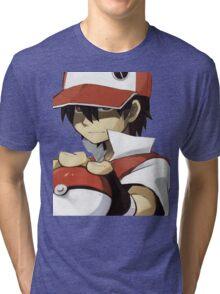 Pokemon - Trainer red Tri-blend T-Shirt