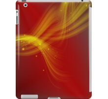 Red abstract background iPad Case/Skin