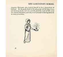 Mrs Leicester's School Charles & Mary Lamb with Minifred Green 18xx 0114 Tailpiece to the Young Mahometan Photographic Print