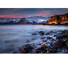 Elgol Sunset, Loch Scavaig, The Isle of Skye., Western Isles, Scotland. Photographic Print
