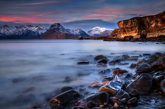 Elgol Sunset, Loch Scavaig, The Isle of Skye., Western Isles, Scotland. by PhotosEcosse