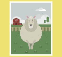 Sheep in a meadow Kids Tee