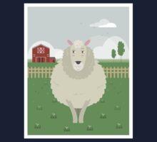 Sheep in a meadow Kids Tee