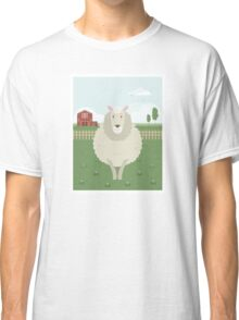 Sheep in a meadow Classic T-Shirt