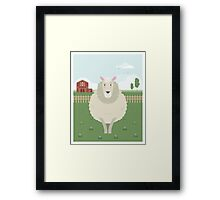 Sheep in a meadow Framed Print