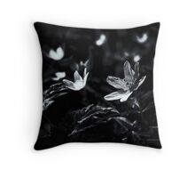 Chasing the fairy lights of woodland dreams Throw Pillow