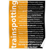 Trainspotting Orange&Black Poster