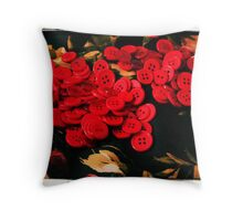 Crossed Buttons Throw Pillow