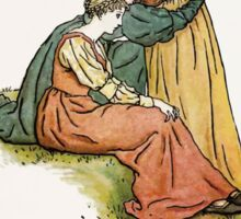 The Pied Piper of Hamlin Robert Browning art Kate Greenaway 0050 Keep Our Promise Sticker