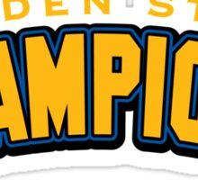 Golden State Champions Sticker