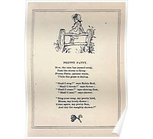 Miniature Under the Window Pictures & Rhymes for Children Kate Greenaway 1880 0039 Pretty Patty Poster