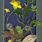 SCANNER ART, TWIGS, LEAVES AND FLOWERS by BCallahan