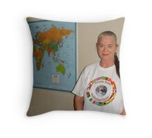 Me in Alcorn State Multicultural Festival T-Shirt Throw Pillow