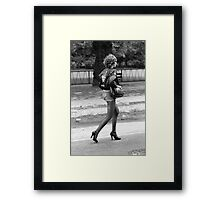 Rock and Roll girl, 1976 Framed Print
