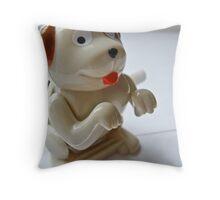 Man's Best Wind-Up Friend Throw Pillow