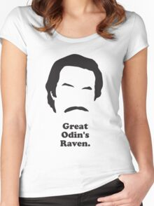 Ron Burgundy - Great Odin's Raven! Women's Fitted Scoop T-Shirt
