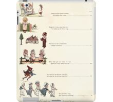 Under the Window Pictures and Rhymes for Children Edmund Evans and Kate Greenaway 1878 0018 Contents iPad Case/Skin