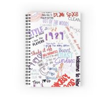 Taylor Swift 1989 Color Edit Spiral Notebook