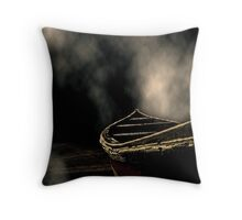 The Lonely Docks Throw Pillow