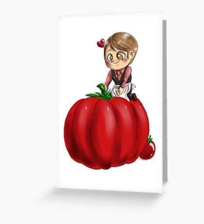Hannibal vegetables - Tomato Greeting Card