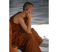 Monk Phone Photographic Print