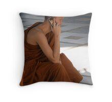 Monk Phone Throw Pillow