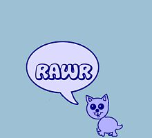 Rawr Kitty  Womens Fitted T-Shirt