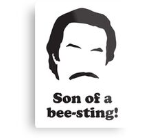 Ron Burgundy - Son of a Bee-Sting! Metal Print