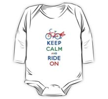 Keep Calm and Ride On - cruiser - primary colors One Piece - Long Sleeve