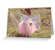 Fairies Washday Greeting Card