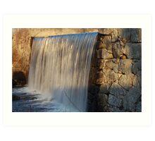 Falling Water at Grafton Pond Art Print