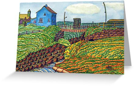 309 - SEATON SLUICE - 03 - DAVE EDWARDS - WATERCOLOUR & INK - 2010 by BLYTHART