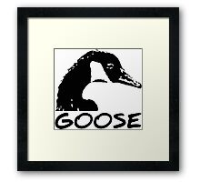 Canadian Goose Black and White Framed Print