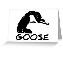 Canadian Goose Black and White Greeting Card