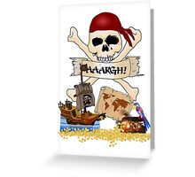 Pirate Icons - Jolly Roger, Treasure Chest, Pirate Ship Greeting Card