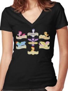 The 7 Elements of Harmony Women's Fitted V-Neck T-Shirt