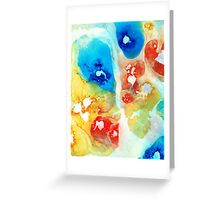 Vitality - Contemporary Art by Sharon Cummings Greeting Card