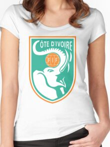 Ivory Coast World Cup T-Shirt Women's Fitted Scoop T-Shirt