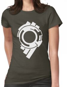 Section 9 (white print) Womens Fitted T-Shirt