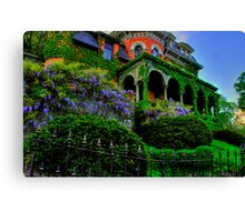 REVISITING AN OLD VICTORIAN MANSION Canvas Print