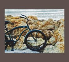 Beach Cruiser - Bicycle Art By Sharon Cummings One Piece - Short Sleeve