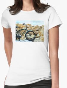 Beach Cruiser - Bicycle Art By Sharon Cummings Womens Fitted T-Shirt