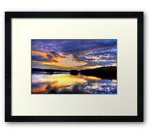 TUPPER LAKE SUNSET  Framed Print