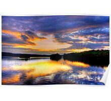 TUPPER LAKE SUNSET  Poster
