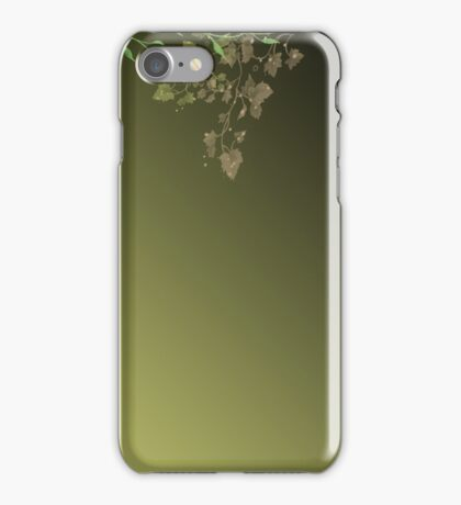 Abstract background of green leaves iPhone Case/Skin