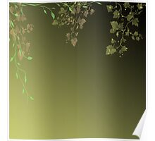 Abstract background of green leaves Poster